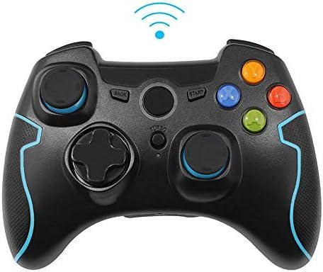 XHMCDZ ワイヤレスゲームコントローラ、ワイヤレスゲームパッド、PS3 / PC/Android携帯用デュアルバイブレーション、タブレット、TVボックス (Color : Black)