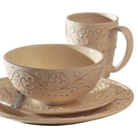 Bianca Cream 16-pc. Dinnerware (Scroll 16 Piece Dinnerware Set)