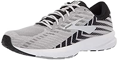 Brooks Men's Launch 6 Alloy/Black/Grey 7.5 EE US