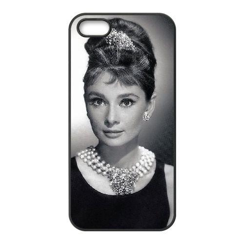 Audrey Hepburn FQ65UZ8 coque iPhone 4 4s téléphone cellulaire cas coque K7KG0J8SH
