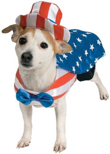 Uncle Sam Pet Costume, Medium, My Pet Supplies