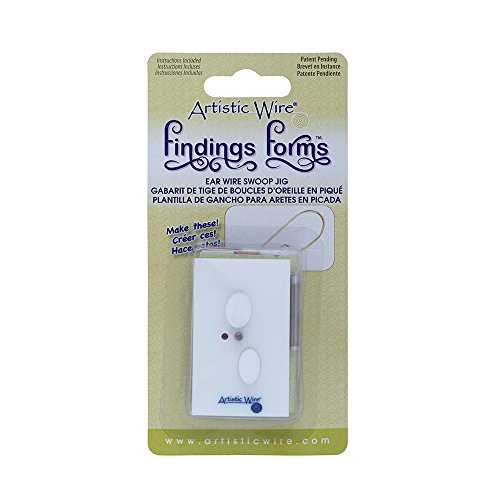 (Artistic Wire 1-Piece Swoop Ear Wire Jig Findings Forms)
