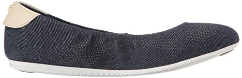 Cole Haan Donna Studiogrand Balletto Piatto Denim Scuro / Sandshell / Bianco Ottico