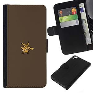 NEECELL GIFT forCITY // Billetera de cuero Caso Cubierta de protección Carcasa / Leather Wallet Case for HTC Desire 820 // Pikach Wookie