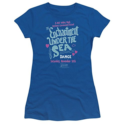 The Enchantment Under The Sea Dance -- Back To The Future Crop Sleeve Fitted Juniors T-Shirt, Small