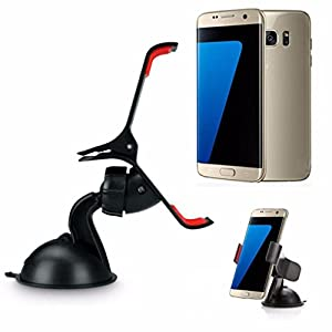 Aobiny Car Windshield Mount Holder 360° Rotable Clip Stand For Samsung Galaxy S7/S7 Edge Universal