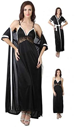 410a6d437a The Orange Tags Ladies Satin Nightie Womens Designer Dressing Gown Robe  Nightwear Set 8-14
