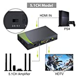 LiNKFOR 4K HDMI Audio ExtractorConverter HDMI to Optical Toslink SPDIF and 3.5mm Jack RCA L/R Stereo Audio Output Converter Support 4K x 2K 3D for HDTV PS3 PS4 DVD TV Box
