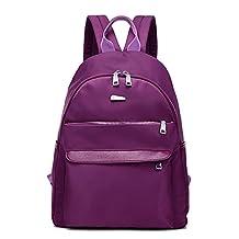 PILER Women Girls Casual Waterproof Nylon Backpack Purse Travel Work College Shool Bag Rucksack Daypack