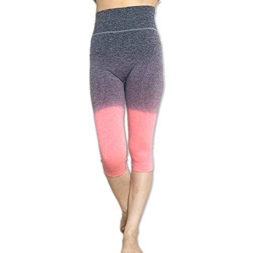 61141761bf Image Unavailable. Image not available for. Color: ADIM Global Capri  Cropped Women Leggings Pants For Yoga Gym Fitness Workout Wear ...