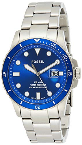 Fossil Mens Quartz Watch, Analog Display and Stainless Steel Strap FS5669