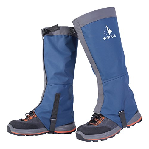 YUEDGE Waterproof Snow Boot Gaiters 600D Anti-Tear Oxford Fabric for Outdoor Hiking Walking Hunting Climbing Trimming Grass