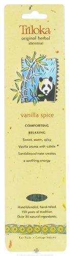 erbal Incense Vanilla Spice - 10 Stick(s) (Triloka Premium Stick Incense)
