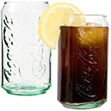 Green Coca-cola Can-shaped Beverage Glasses (2) by Luminarc