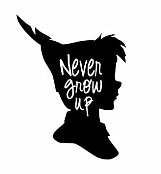Amazoncom Wheeler3designs Never Grow Up Peter Pan Cut Out Quote