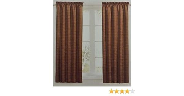 2 Panels 52x84 Maroon Red Sundown by Eclipse Room Darkening curtains