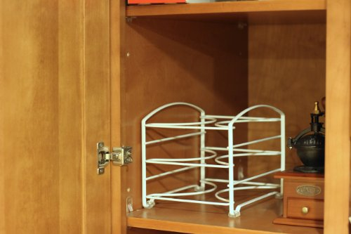 kitchen wrap storage rack decobros kitchen wrap organizer rack white small 6581