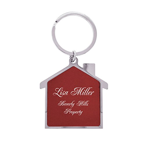 Gifts Infinity Personalized House Keychain - Free Laser Engraving (House, Red)