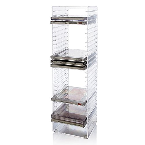 Clear Plastic CD Tower - holds 30 standard CD jewel cases by STORi