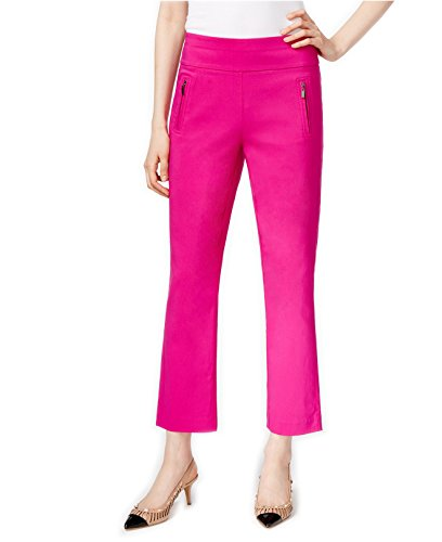 INC International Concepts Women's Curvy-Fit Pull On Cropped Pants (16, Magenta - International Magenta