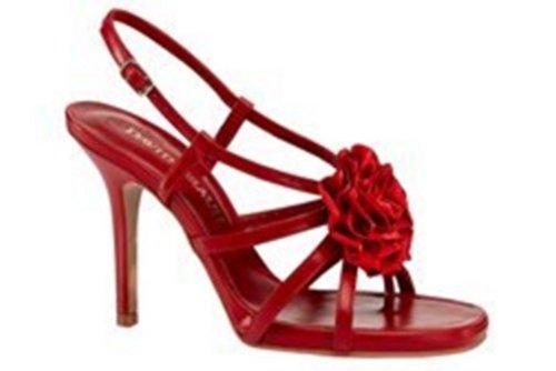 DAVID BRAUN Sandalette - Sandalias de vestir para mujer Rojo