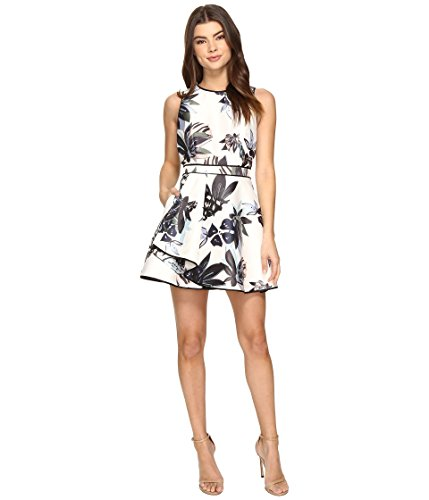 KEEPSAKE THE LABEL Women's Coming Home Mini Dress Abstract Floral Print (Abstract Print Mini Dress)