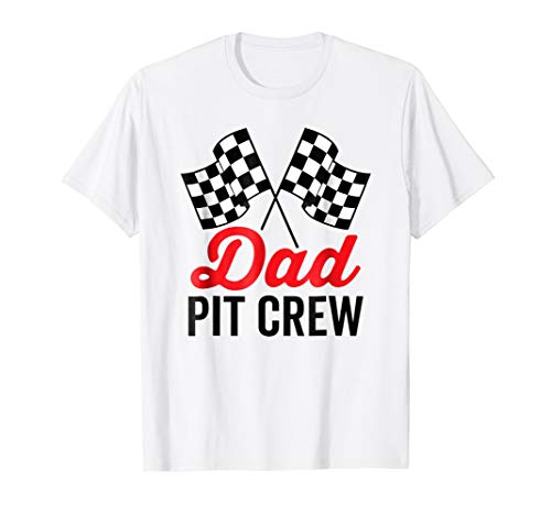 Crew Pit Adult Shirt - Dad Pit Crew Shirt for Racing Party Costume