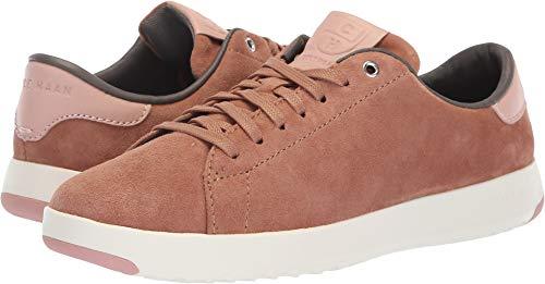 Mocha Footwear Suede (Cole Haan Women's Grandpro Tennis Sneaker Mocha Mousse Suede/Misty Rose 8 B US)