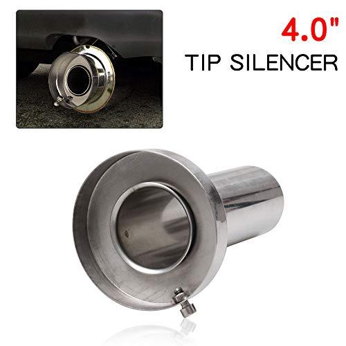 (RYANSTAR Exhaust Muffler Round Removable Silencer 4