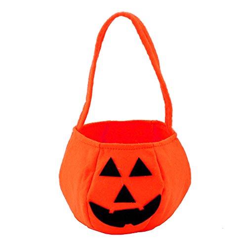 (VANKER 1 Pc Halloween Smile Pumpkin Bag Kids Candy Bag Delicate Handbag For)