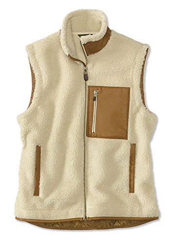 (Orvis Men's Stowe Fleece Vest, Natural,)