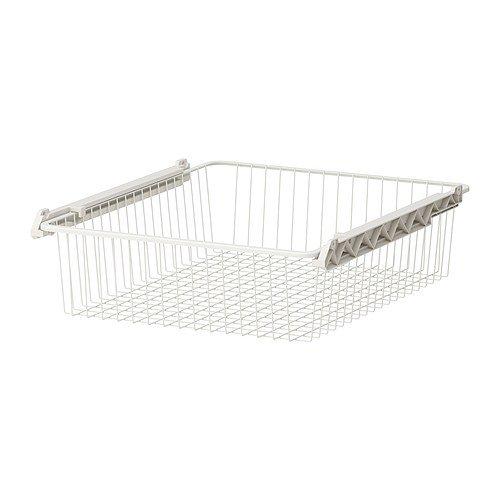 Ikea STUVA GRUNDLIG - Wire basket, white - 60x49x13 cm