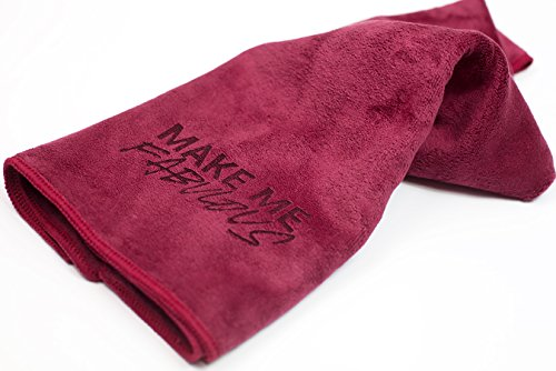 Price comparison product image Microfiber Towel by eFemme USA Red/Burgundy Hair Towel - Make Me Fabulous, 29.5 x 13.75 Inches