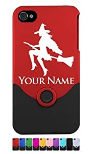 Engraved iPhone 4/4S Case/Cover - SEXY WITCH, HALLOWEEN - Personalized for FREE (Send us an Amazon email after purchase with your engraving request)