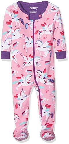 Hatley Baby Girls' Organic Cotton Footed Sleepers, Winged Unicorns, 0-3M