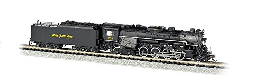 Bachmann Industries Nickel Plate #765 N Scale 2-8-4 Berkshire Steam Locomotive & Tender (Train Plate Steam)
