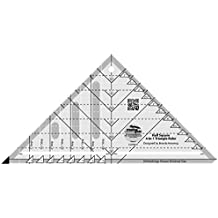 Creative Grids Half Square 4-in-1 Triangle Quilting Ruler Template CGRBH1