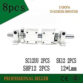 Ochoos 12 x 300 mm eje + 2 x SC12UU + SK12 + SHF12 rodamientos ...