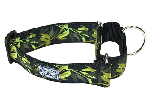 RC Pet Products 1-1/2-Inch All Webbing Martingale Dog Collar, Medium, Jungle Boogie, My Pet Supplies
