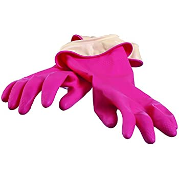 Casabella 46050 Premium Waterblock Gloves, Medium, 1-Pair, Pink