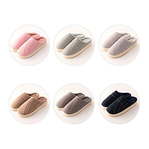 All'interno Velluto Inverno Domestica Dimensioni Pink E Autunno colore Artico 39 Antiscivolo Donna Ciabatte Uomo 38 Tingting Impermeabile Pantofole Di Pink Cotone Caldo Mantieni xfvgXw7q