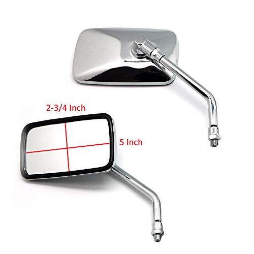 1 Pair Motorcycles Rearview Side Mirrors Chrome for Honda Shadow VT VT1100 VT750 VT600 VF750 750