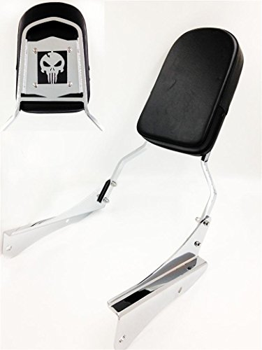 Honda Backrest Shadow Spirit - HK MOTO- Motorcycle Skull Backrest Sissy Bar For 2001-2008 Honda Shadow Spirit 750 Vt750