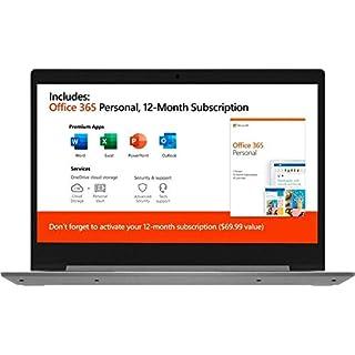 "2020 Lenovo IdeaPad Laptop ComputerAMD A6-9220e 1.6GHz 4GB Memory 64GB eMMC Flash Memory 14"" AMD Radeon R4 AC WiFi Microsoft Office 365 Platinum Gray Windows 10 Home (Renewed)"