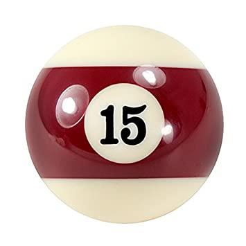 98709f8bd5 ORIGINAL 2 quot  BURGUNDY STRIPED N0 15 POOL BALL MAKES IDEAL NOVELTY GEAR  ...