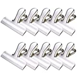 Chip Clip Stainless Steel Bag Clips Heavy Duty 10 Set 3 inches Wide for Air Tight Seal Grip On Kitchen Food Bag, Paper Clip,Office