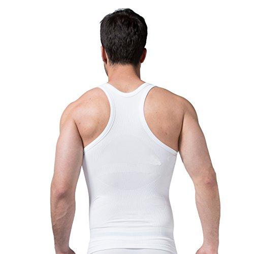Surker Men Sweat Seamless Functionality Shaping Underwear Abdomen Waist Bunched Fitness Vest(X-Large)