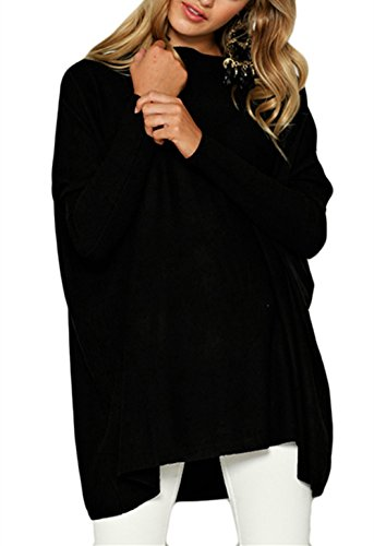 GUOYUJIANYI New Autumn Warm T-shirt Women's Fluffy Fashion Sweatshirt Clothing Loose Tees Top Sweaters Medium Black