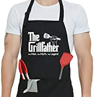 Funny Apron for Men/Women 100% Cotton Thick and Durable Waterproof Chef Apron