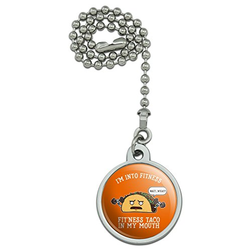 GRAPHICS & MORE I'm Into Fitness Fit'ness Taco in My Mouth Funny Ceiling Fan Light Pull Chain